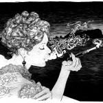 Nuits Indiennes, dessin de couverture de la version N&B pour l'album éponyme. Vous pouvez retrouver un tirage limité de ce dessin sur le site Noire Méduse
