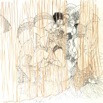Adélie et les Rani, illustration pour la version N&B de Nuits Indiennes