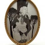 L'Entrevue Clandestine, indécente miniature pour l'exposition Les Secrets de la Villa d'Este.