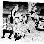 Shakra Soirée, illustration pour la version N&B de Nuits Indiennes.