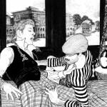 Rêverie, illustration de commande, parue dans la version N&B de Nuits Indiennes.
